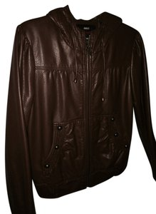 Miss Sixty Faux Leather Brown Leather Jacket