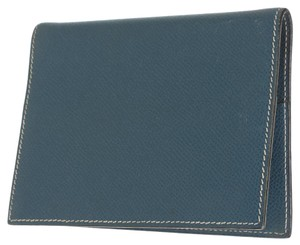 Hermès Hermes Blue Epsom Leather Agenda Cover