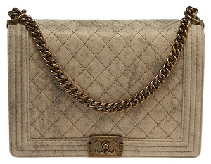 Chanel Quilted Boy Velvet Shoulder Bag