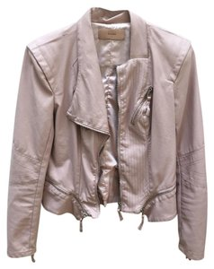 BlankNYC Zippers Faux Leather Rocker Rose Leather Jacket