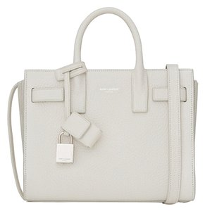 Yves Saint Laurent St Sac Du Jour Satchel in Dove White