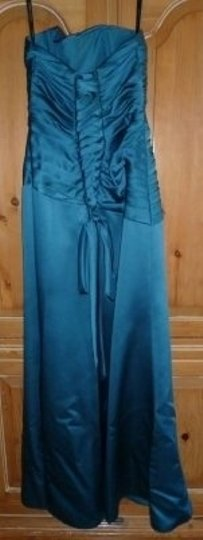 Alfred Angelo Teal 7006 Formal Bridesmaid/Mob Dress Size 4 (S)