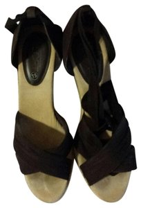 Ann Taylor LOFT Brown Wedges