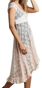 Maxi Dress by Free People Lace Cap Sleeves