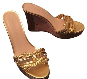 Anne Klein Gold Wedges
