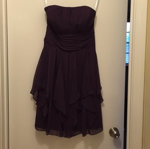 David's Bridal Plum F14169 Dress