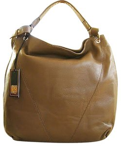 Pour La Victoire Brown Gold Hardware Hobo Bag