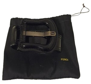 Fendi Fendi Black Patent Leather Belt