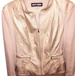Gerry Weber Beige Leather Jacket