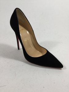 Christian Louboutin So Kate 120 Suede Black Pumps