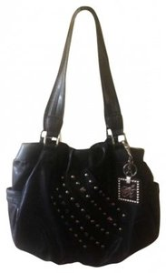 Sienna Ricchi Vinyl Studded Shoulder Bag