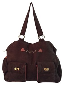 Wendy Bellissimo Brown Peach Diaper Bag