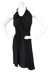 Cadeau Cadeau Black Silk Maternity Halter Swing Dress Summer or Evening Size Large