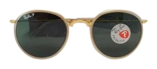 19e6d9561d12f Ray-Ban RayBan Polarized Matte Gold Vintage Inspired Round Folding  Sunglasses Model RB3517 112  ...