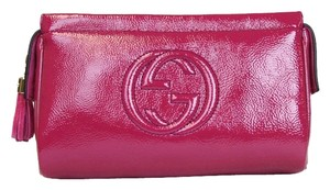 Gucci Soho Patent Leather Cosmetic Clutch