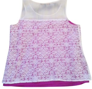 Cynthia Steffe Top White and Pink