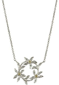 Cathy Waterman CATHY WATERMAN Diamond Circle of Flowers Pendant Necklace