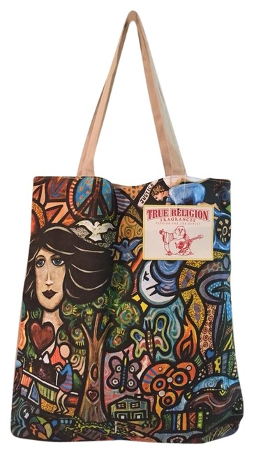 Item - Bag Colorful Black White Red Blue Tote