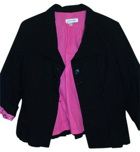 Isaac Mizrahi Dryclean Only Inside Color Top blazer black