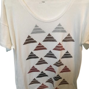 J.Crew T Shirt Ivory, copper/silver/gold sequins