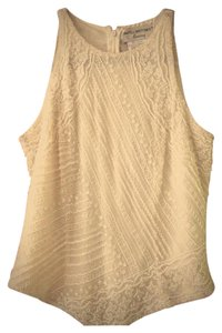 Adrianna Papell Evening Party Beaded Cocktail Top White/Natural