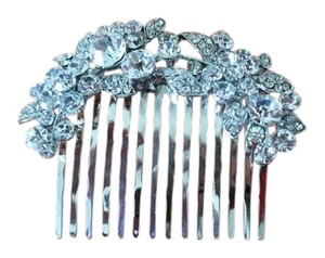 Silver Crystal Wedding Hair Pin With Comb
