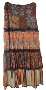 Weston Wear Maxi Skirt brown print