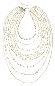 Kenneth Jay Lane Kenneth Jay Lane Multi Row Pearl Drop Necklace