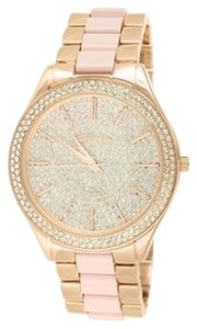 Geneva Womens 14k Rose Gold Finish Geneva Bradshaw Runway Watch Jojo Rodeo Kc