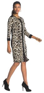 Chico's short dress Brown Animal Print on Tradesy