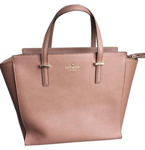 Kate Spade Saffiano Leather Gold Hardware Satchel in Gingersnap