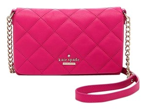 Kate Spade Pink Magenta Quilted Cross Body Bag