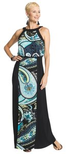 Cool Blue Maxi Dress by Chico's Groovy Paisley Maxi New