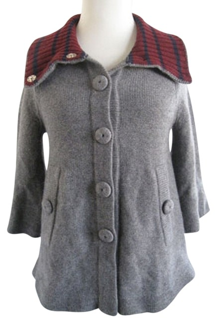 Marc by Marc Jacobs Cashmere Swing Coat Collar Soft Gray Jacket