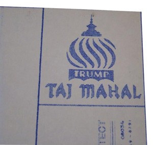 Donald Trump Taj Mahal Casino Original Blueprint - Perfect Wedding Gift