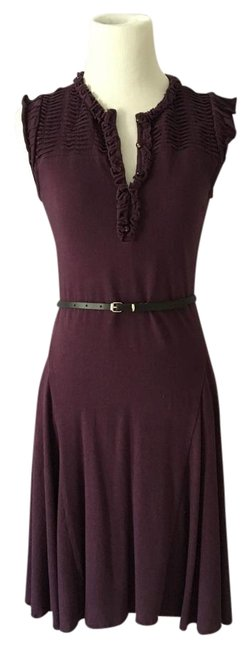 Magaschoni Plum Knee Length Work/Office Dress Size 2 (XS) Magaschoni Plum Knee Length Work/Office Dress Size 2 (XS) Image 1