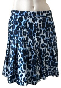 Diane von Furstenberg Mini Skirt Snow Cheetah Blue