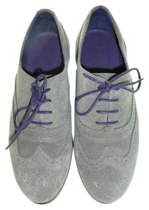 Boden Made In Portugal Brogues Loafers Leather Suede Gray Flats