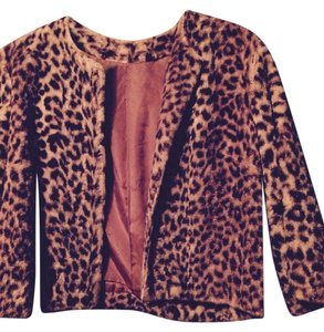 Other Print Boho Fabulous Faux Fur Cropped 1950s Vintage Leopard Jacket