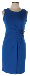 Alfani Ruched Stretchy Blue Career Dress
