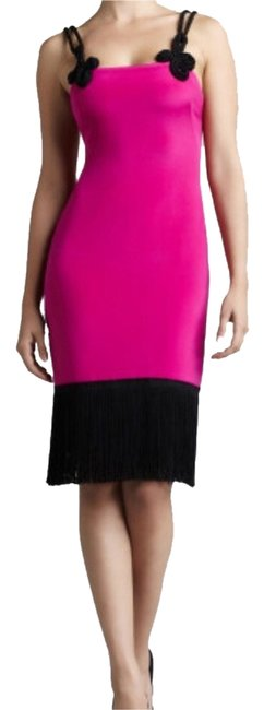 Preload https://item2.tradesy.com/images/marchesa-notte-fuchsiablack-pink-strap-rope-knee-length-cocktail-dress-size-10-m-1512761-0-0.jpg?width=400&height=650