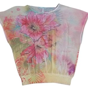 Maurices Top Yellow & Pink Floral