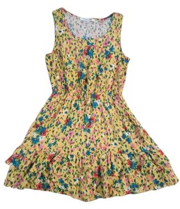 Forever 21 short dress Yellow Sun Floral on Tradesy