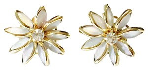 Raf Rossi Gold Plated Enamel flower