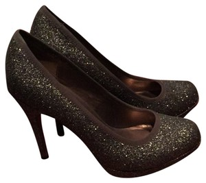 Ann Taylor LOFT Gold Sparkle Pumps