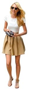 Dressy Feminine Slimming Mini Skirt Champagne Gold