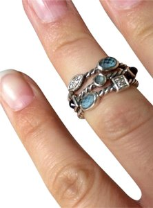 David Yurman David Yurman Confetti Ring With Iolite, Blue Topaz & Diamonds