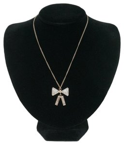 Chanel CHANEL Crystal Bow Necklace