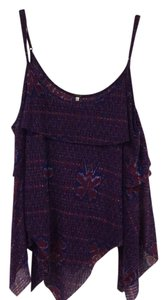 Free People Top Blue, Purple