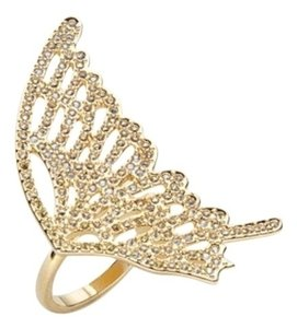 Swarovski Gold Butterfly Ring